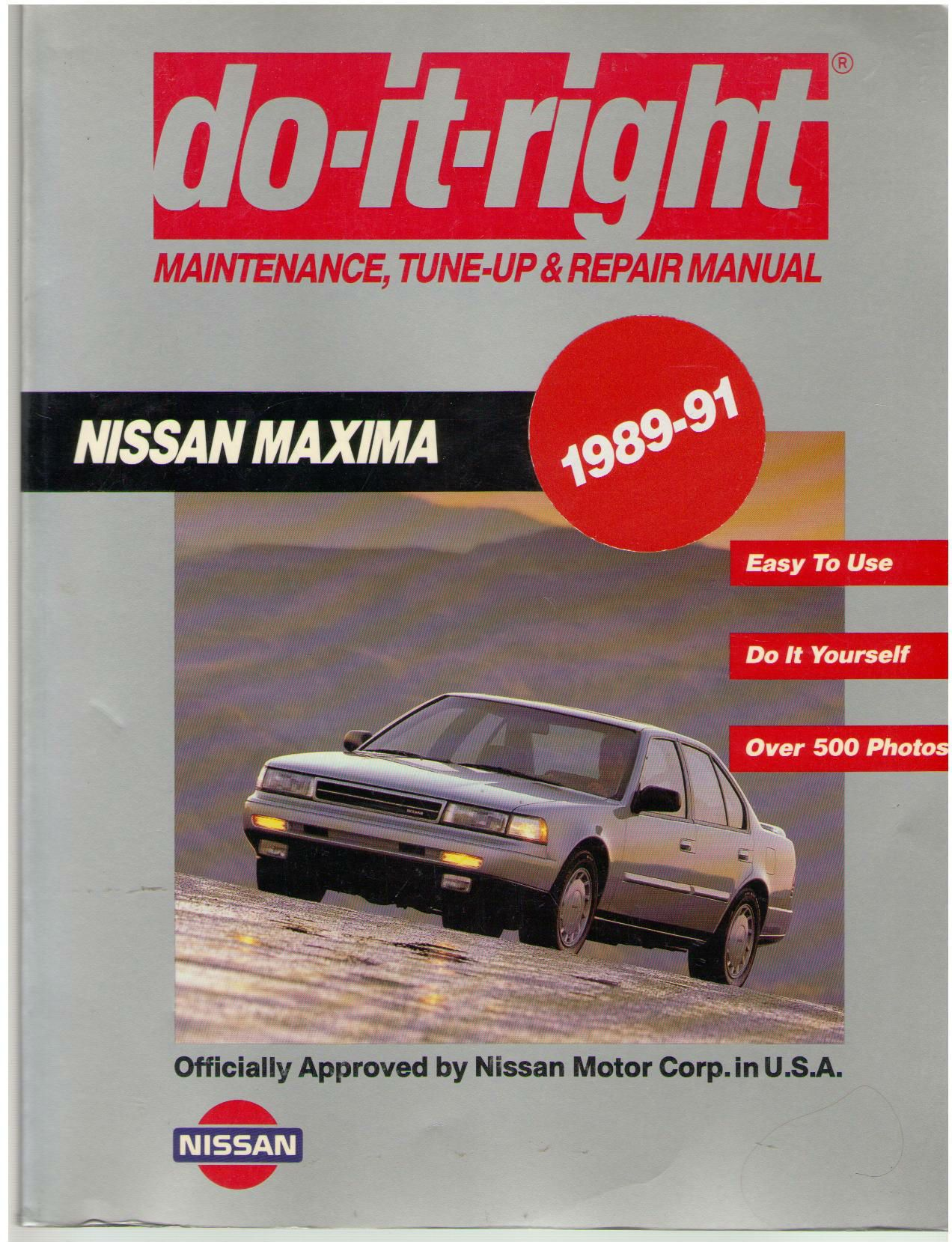 Do-It-Right Maintenance, Tune-Up & Repair Manual Nissan 1989-90 Maxima